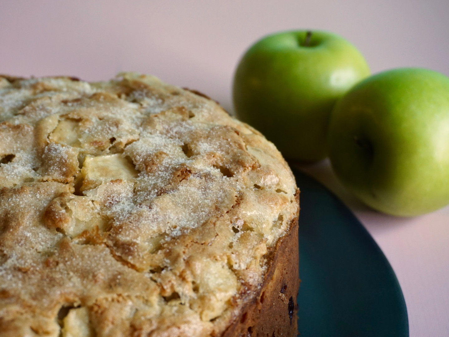 Irish apple cake with granny smith apples